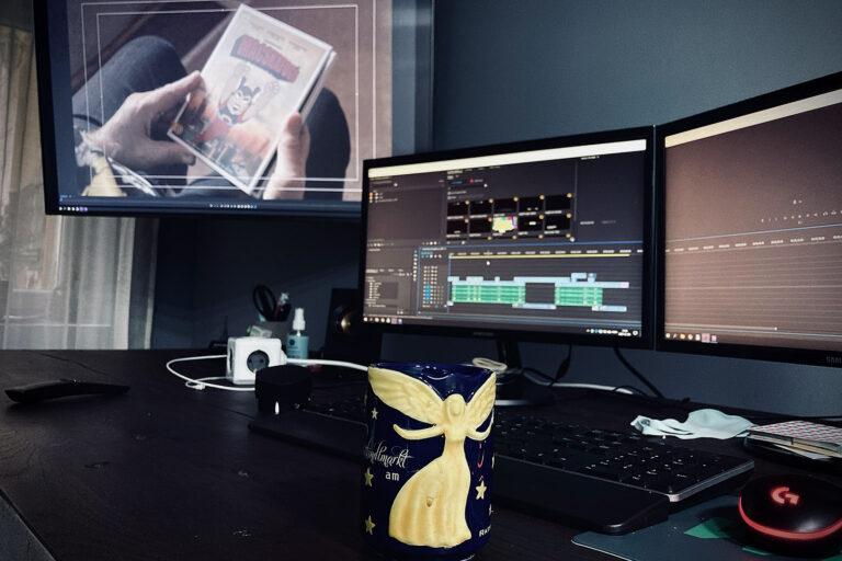Adventi kávézás a Macskafogó Dvd reklám vágása közben